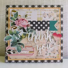 Thank You - 2014-10-05 - koolkittymusings.typepad.com using papers, ephemera and chipboard from the new Open Book line by @crate_paper