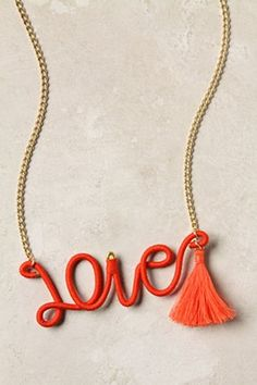Thread-Wrapped Sentiment Necklace   Anthropologie.eu