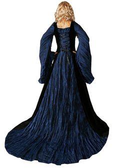 Renaissance Dresses | Dress - Ladies Medieval Renaissance Costume and Headdress - Medieval ...