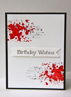 """Carte anniversaire """"Grunge"""""""