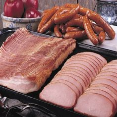 Spice up your holiday meals with Applewood-smoked meats, including ham, bacon, sausage, turkey, chicken & more. Send a Nueske's Gift Basket this holiday.
