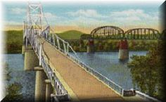The Silver Bridge was the only bridge across the Ohio River between Middleport, OH and Huntington, WV. A major east-west connection for US Route 35 connecting Charleston, WV and major cities in Ohio. The Silver Bridge was also the local link for people doing business in both Point Pleasant, WV and Gallipolis, OH. It collapsed in 1967, killing 46 people.  Fortunately we crossed it 6 years prior when my dad took us on a road trip through West Virginia and Kentucky.