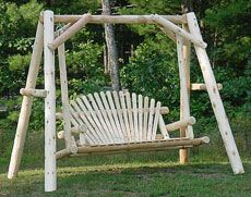 White Cedar The Perfect Love Seat Sets For Your Family's Yard Or Leisure Garden