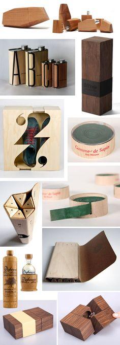 Packaging en bois, matiere premiere aliant caracteristiques souples et rigides.