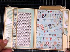 April 2014 DCWV Sweet Tangerine - The Sky is the Limit File Folder Mini with Tutorials by Rachel; Jazzycreation