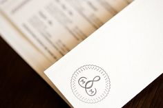 Interesting idea for wedding logo