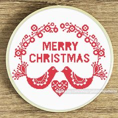Tittle: Scandi xmas birds Collection: Scandi xmas This PDF counted cross stitch pattern available for instant download. Skill level: Beginner. Floss: DMC. Hoop: 11 inches SIZE: Design Area: 110h x 140w stitches. Area of embroidered image 7.9 x 10.1 inches if you use 14-count Aida
