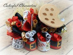 Christmas Cookie Tester Funky loopy bow, Hair bow, hair accessories, girls bow, Christmas bow, holiday bow, flb, ready to ship by ColorfulCharacters on Etsy