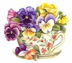 flores em recipientes