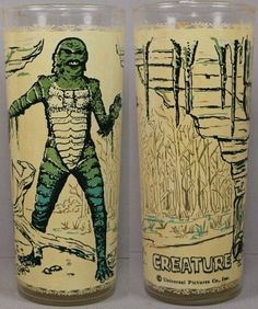 Universal Monsters Creature From The Black Lagoon Tumbler Drinking Glass Horror Monsters, Scary Monsters, Famous Monsters, Monster Toys, Monster Art, Retro Toys, Vintage Toys, 1960s Toys, Cinema Video