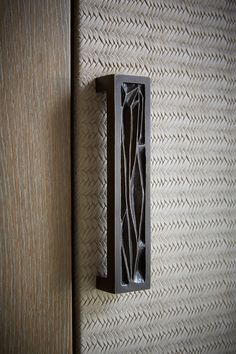 joinery door detail | handle | woven leather | St Moritz - Todhunter Earle