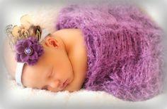 Cocoon Wrap Plum Purple Violet Baby Swaddler Photo by BabyBirdz, $75.00