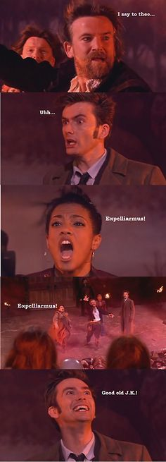 Doctor Who with Harry Potter Reference. AH-MAZING. :D <3 <3 <3 Combing two of my favorite things!!! :D