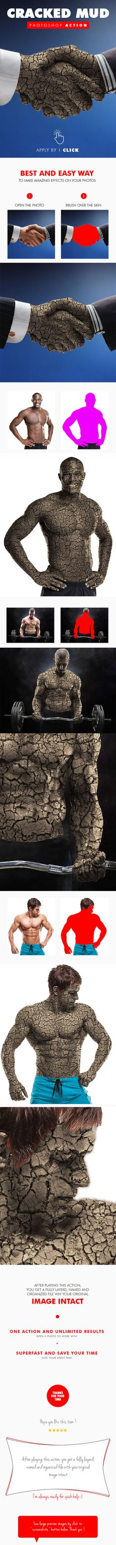 Cracked Mud #Photoshop Action - #Photo Effects #Actions Download here: https://graphicriver.net/item/cracked-mud-photoshop-action/19614892?ref=alena994