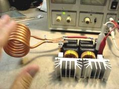 How To Make A Simple Induction Heater ~ FULL explanation & schematic Induction Forge, Induction Heating, Electrical Projects, Electrical Engineering, Diy Electronics, Electronics Projects, Homemade Lip Balm, High Tech Gadgets, 3d Laser