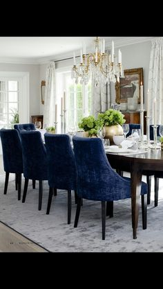 Dining White Art, Blue And White, Dining Chairs, Dining Table, Dinner Room, Furniture, Home Decor, Dining Room, Decoration Home