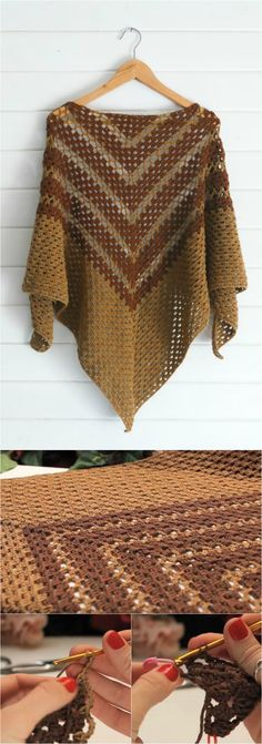 Crochet Arrow Shawl With Free Video Tutorial. #crochet #freetutorial #shawl