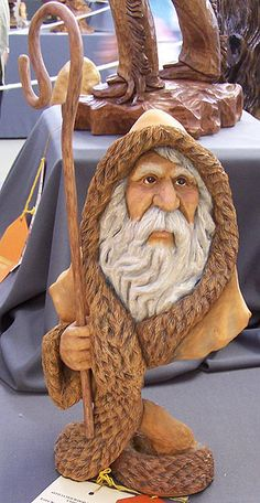Wow....isn't he amazing carved from wood !  I want this SO bad, but it is definitely not in my budget...unless I win the lotto.