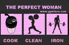 The perfect CrossFit woman: Cook, Clean, Iron