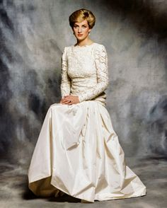 1987 An official portrait of Princess Diana, taken by Sir Terence Donovan, a royal photographer