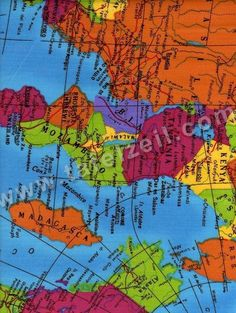 Wereldkaart pvc | Kinderdessins - Tafelzeil.com