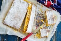 Mango Recipes, Sweet Recipes, Cake Recipes, Dessert Recipes, Dessert Ideas, Desserts, Baked Custard Recipe, Custard Recipes, Custard Slice