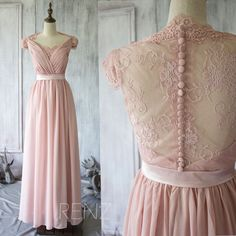 RenzRags Chiffon Lace Bridesmaid Dress - Tips and Picks: Bridesmaid Dresses to Match Lace Wedding Dress - EverAfterGuide