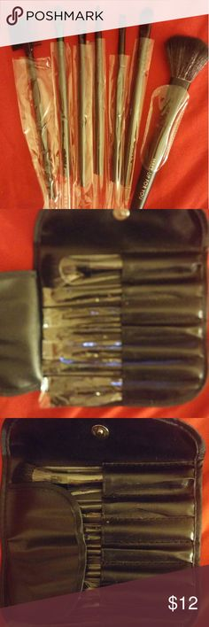 7 cosmetic brushes in a case. These brushes are excellent. I use them too. Eyelash comb/brush . brow ,liner,blush,eye shadow,detail,crease. make up for you Makeup Brushes & Tools