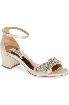Main Image - Badgley Mischka Bellisima Crystal Embellished Sandal (Women) (Nordstrom Exclusive)