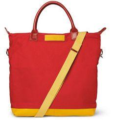 WANT Les Essentiels de la Vie Limited Edition O'Hare Leather-Trimmed Cotton-Canvas Tote Bag | MR PORTER