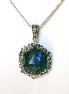 DIY Necklace  : DIY brazen-blue-ice-pendant