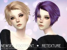 Newsea Footprint Hair Retexture at Aveira Sims 4