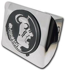 florida state FS logo shiny chrome trailer hitch cover made in usa