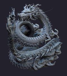 Dragon Tattoo Art, Dragon Art, Japanese Dragon, Japanese Art, Chinese Dragon, Beautiful Heart Images, Dragon China, Female Dragon, Animal Statues
