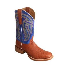 Men's Twisted X Boots MRA0003 Rancher Cowboy Boot Brandy Smooth Ostrich/Avatar Leather