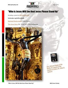 Who Is Jesus, will the Real Jesus Please Stand Up by RBG Communiversity via slideshare
