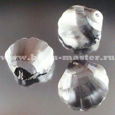 "Подвеска Swarovski ""Ракушка"" арт. 6723, размер 28 мм, цвет Crystal."