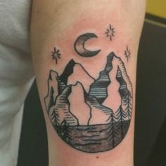 200+ Best Mountain Tattoos for Men (2020) Range, Geometric, Simple, Small Designs Rocky Mountains, Moutain Tattoos, Forearm Sleeve Tattoos, Tattoo Motive, Tattoos For Guys, Ink, Simple, Designs, Beauty
