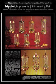 here's to all you rain lamp lovers:)  I love mine :)  1970's