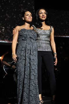 Sade Adu with Alicia Keys