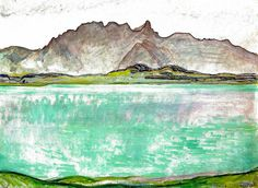 Ferdinand Hodler - Symbolism - Switzerland - Landscape - Thunersee mit…