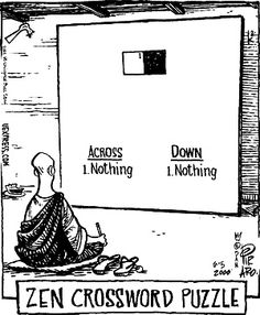 Zen Crossword Bizarro Comic Mindfulness Meditation Quotes Deep El Humor