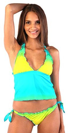 Ladies Push up Tankini with hotpants/Panty two pieces different colors f2576 at Amazon Women's Clothing store: Fashion Tankini Sets