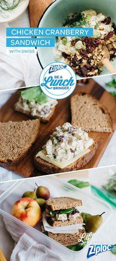 This isn't grandma's chicken salad. Dress up an old lunchtime standby with ingredients like fresh garlic, chopped walnuts, and dried cranberries. Makes the perfect lunch. Just pack it in a Ziploc® bag to keep everything fresh.