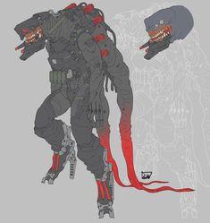 Electrophorus electricus by obokhan on DeviantArt Armor Concept, Concept Art, Character Concept, Character Art, Science Fiction, Arte Cyberpunk, Cyberpunk Character, Sci Fi Armor, Cool Monsters