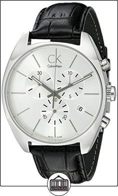 Calvin Klein K2F27120 - Reloj de caballero de cuarzo, correa de piel color negro de  ✿ Relojes para hombre - (Gama media/alta) ✿