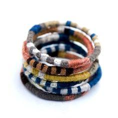 e c c o * e c o: Wrapped Bangle Bracelets by Dyan Ashby