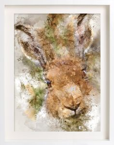 Hare, the most popular print in my Woodland Wonder series of watercolour,  only a few limited edition prints are left.