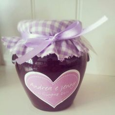 bomboniera marmellata Wedding Favours, Wedding Gifts, Guest Book Table, B & B, Wedding Guest Book, Favors, Jar, Shabby, Weddings