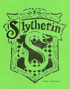 Slytherin Crest papercutting by Rose-Ann-Mary-K.deviantart.com on @deviantART